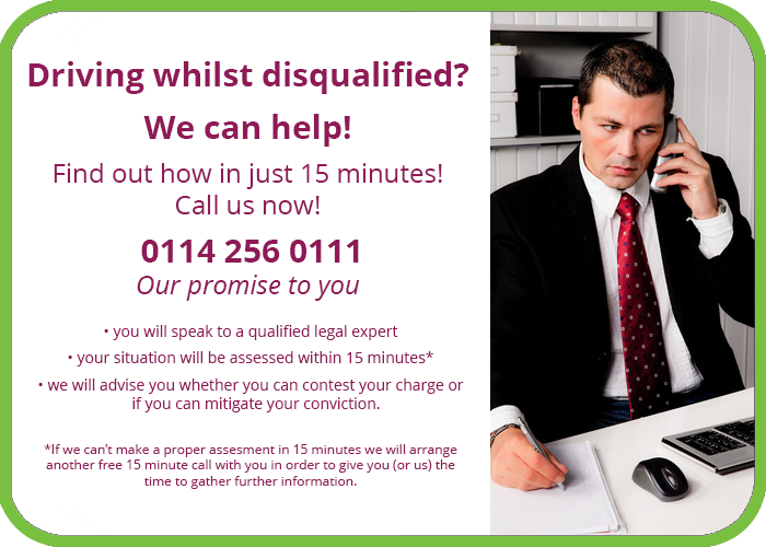 Driving disqualified solicitor