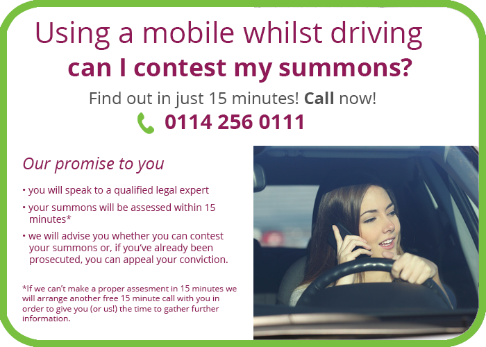 Using mobile while driving solicitor sheffield