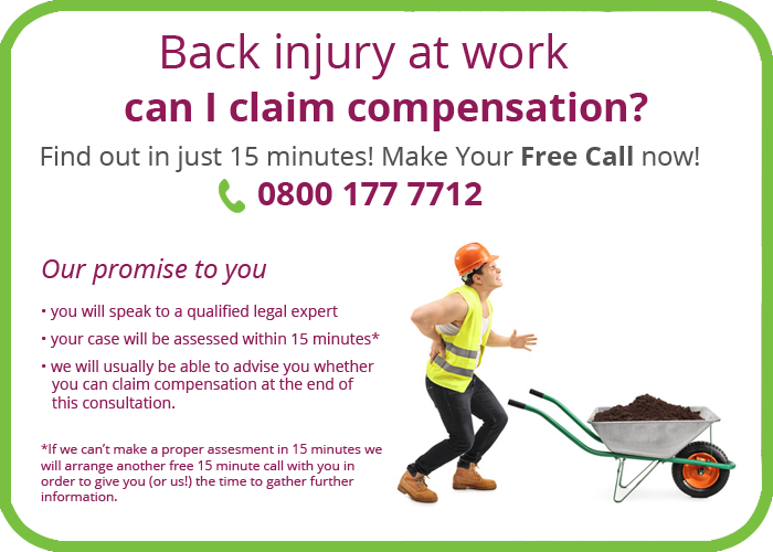 Back injuries at work claims